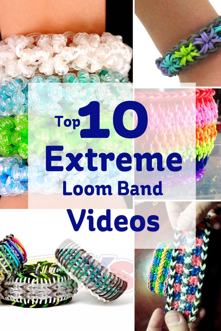 Top 10 Extreme Loom Band Videos - Hobbycraft Blog #loombands #looming #rainbowloom