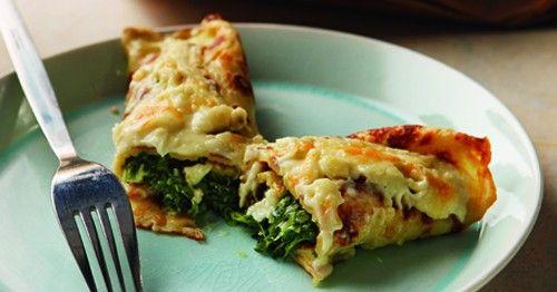 Κρέπες με σπανάκι και τυριά | olivemagazine.gr