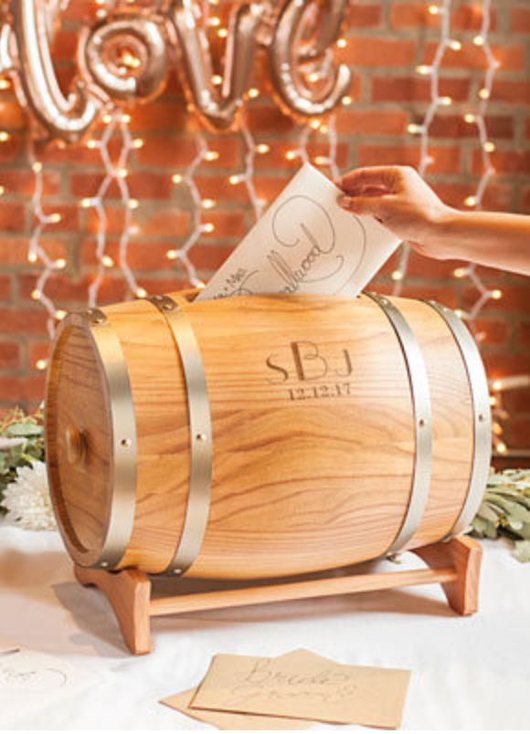 Wine Barrel Card Holder | Rustic Wedding | Reception Inspiration