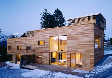 CLT clad Passive House duplex Maaars Architecture