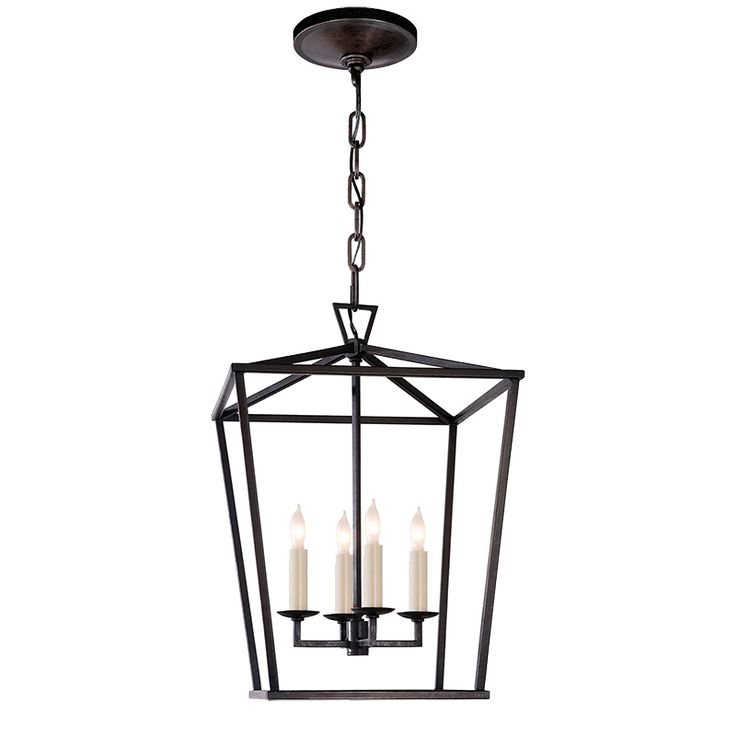 """Guest bath  DARLANA SMALL Fixture Height: 18"""" * Width: 12 1/2"""" Canopy: 5 1/2"""" Round Wattage: 4 - 60 Watt Type C Socket: Candelabra *Height measurement does not include chain or canopy   price$483.00 finishaged iron"""