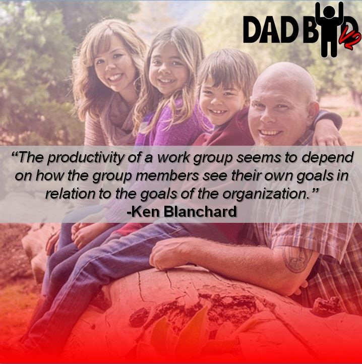 The productivity of a work group seems to depend on how the group members see their own goals in relation to the goals of the organization. -Ken Blanchard