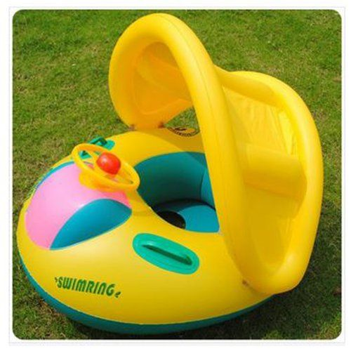 Baby Seat Inflatable Toddler Baby Swim Ring Float Seat Swimming Pool Water Seat With Anti-Uv Canopy Bs 03, 2015 Amazon Top Rated Baby Floats #Toy