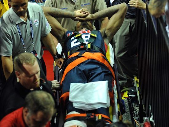 INDIANA PACERS PAUL GEORGE GETS A HORRIBLE LEG INJURY DURING TEAM USA PRACTICE GAME FOR THE NBA!