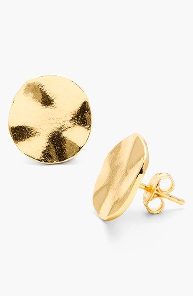 Free shipping and returns on gorjana 'Chloe' Large Stud Earrings at Nordstrom.com. The warm shine of 18-karat gold plating bounces around the wavy contours of these versatile, everyday stud earrings.