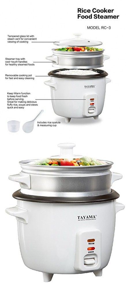 Tayama 3 Cup Rice Cooker with Steamer