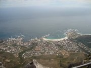 Gordons bay view from Table Mountain