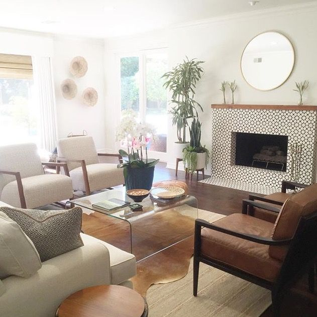 A Modern Simple Living Room Featuring The Dominic Chair Photo Via