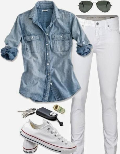 Perfect s/s outfit - I need to find the perfect pair of white jeans! I love WHITE!!!