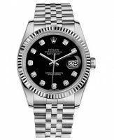 Rolex Datejust 36mm Acier Noir Cadran Jubilee Bracelet 116234 BKDJ