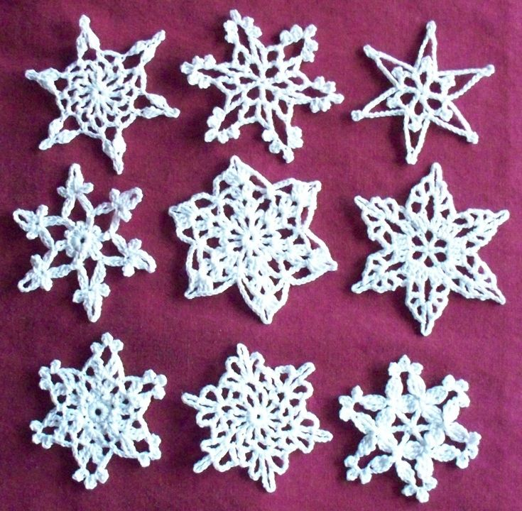 Simple Crochet Snowflake Pattern Free Manet For