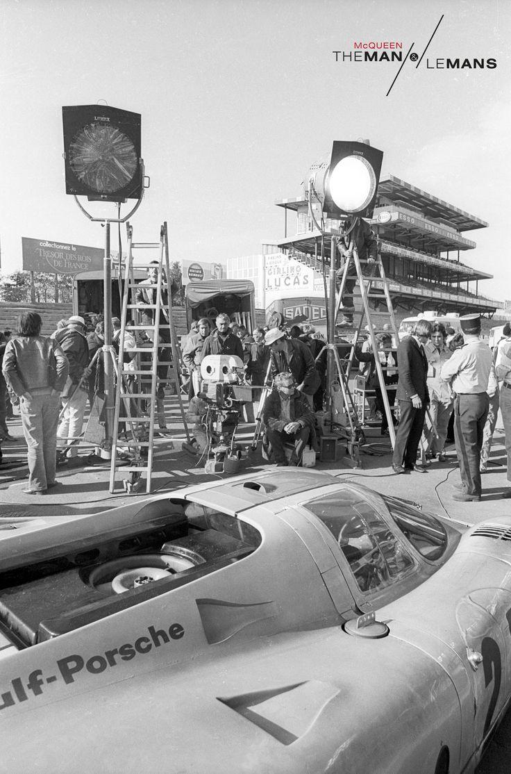 Lights, Camera...Car? Behind the Scenes at the set of 'Le Mans'. http://www.themanlemans.com/?utm_source=pinterest&utm_medium=breed%20pinterest&utm_content=Behind%20the%20Scenes%20board&utm_campaign=Pinterest%20boards #McQueen #SteveMcQueen #TheManLeMans #LeMans #BehindtheScenes #Filming