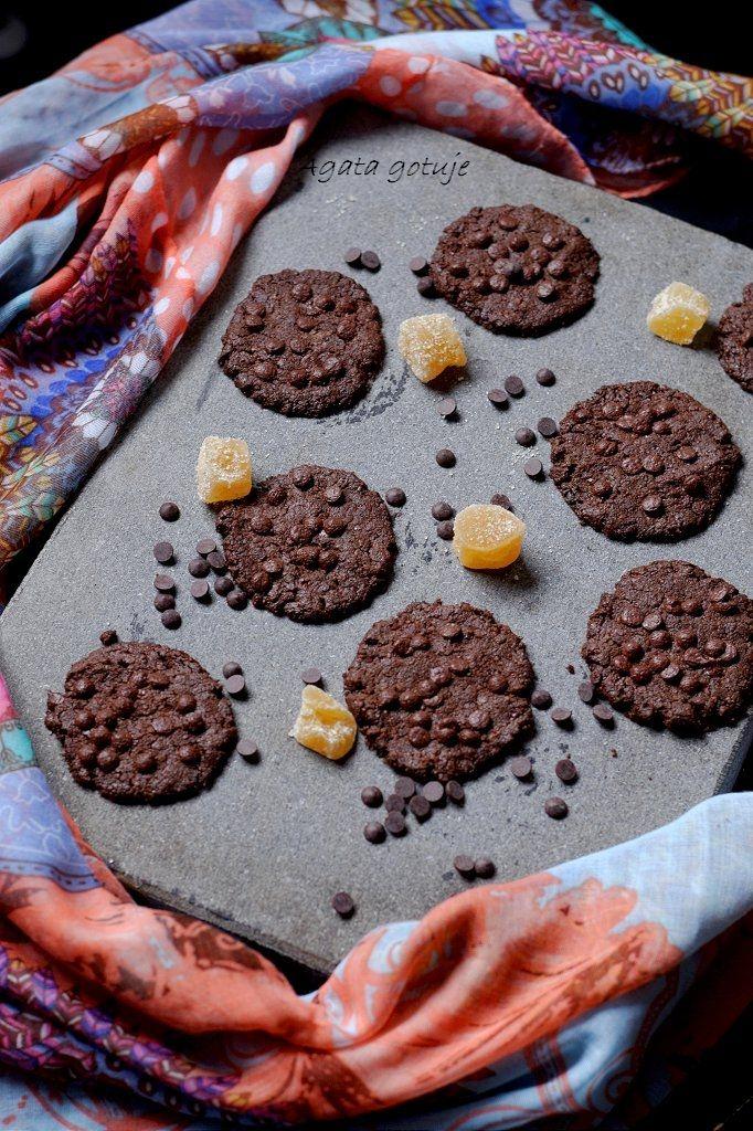 Ciasteczka czekoladowe z imbirem