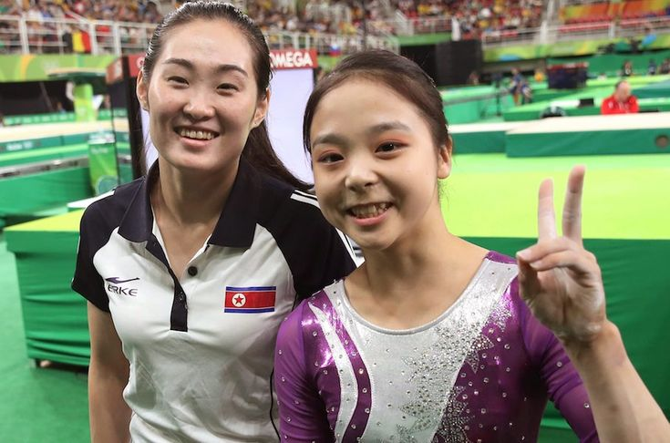"""Despite the division and conflict between their nations, two Olympic gymnasts chatted and laughed together before their competition. South Korean gymnast Lee Eun-ju and and North Korea's Hong Un-jong took a selfie together that's been a called an """"icon of unity,"""" capturing the true spirit of the Olympics: international cooperation."""