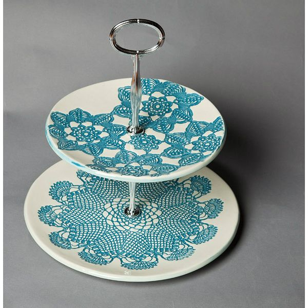 Gorgeous cake stand by New Zealand potters Borrowed Earth. Available at Kapa, Queenstown.