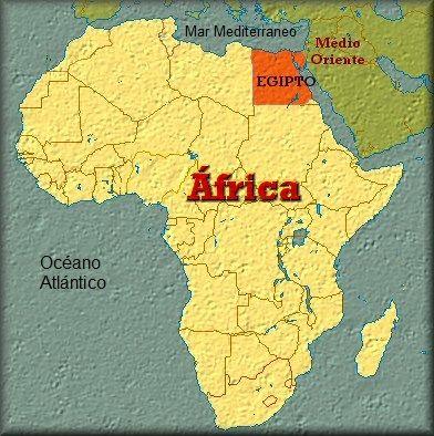 Ubicación de Egipto en África