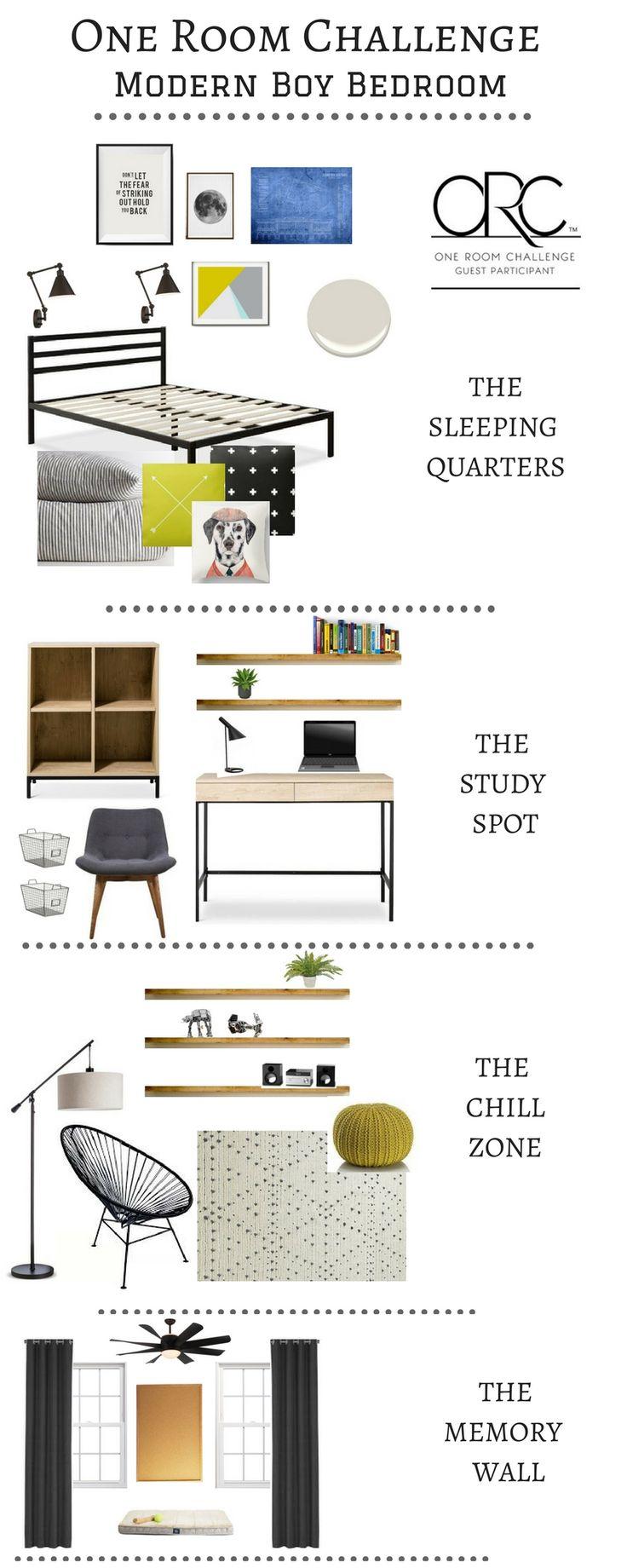 One Room Challenge Week 1: Modern Boy Bedroom Plans