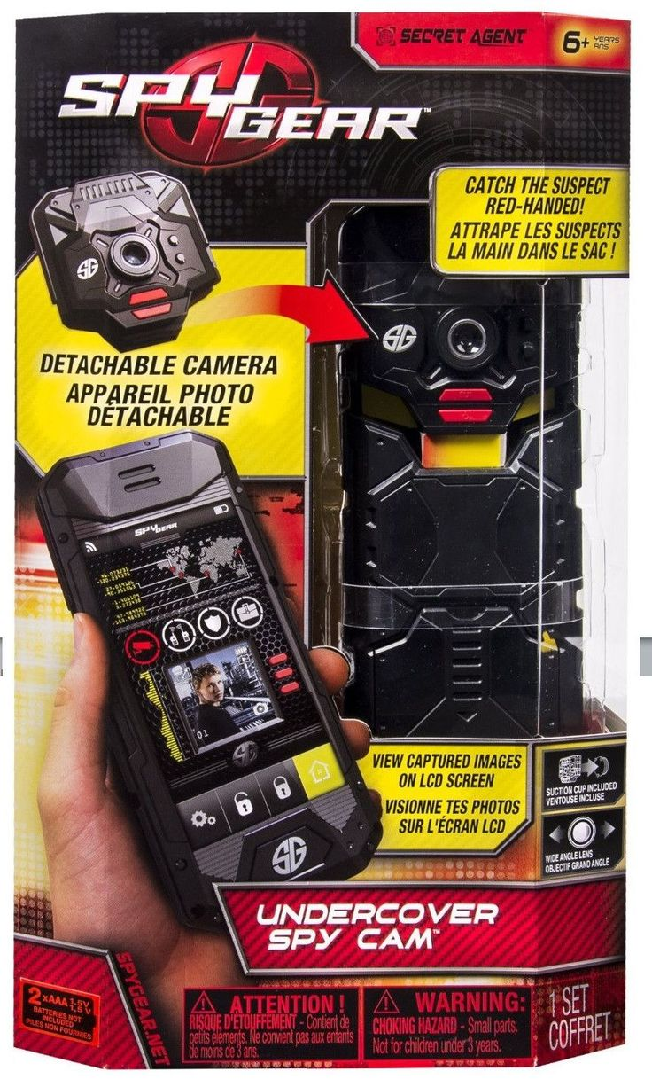 Spy Gear Undercover Toy Spy Cam w/Motion Sensor by Toysmith Kids will love this undercover spy camera for catching suspects red handed. Or use it to set up a surveillance perimeter around your underco