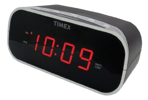 awesome Timex Alarm Clock with 0.7-Inch Red Display