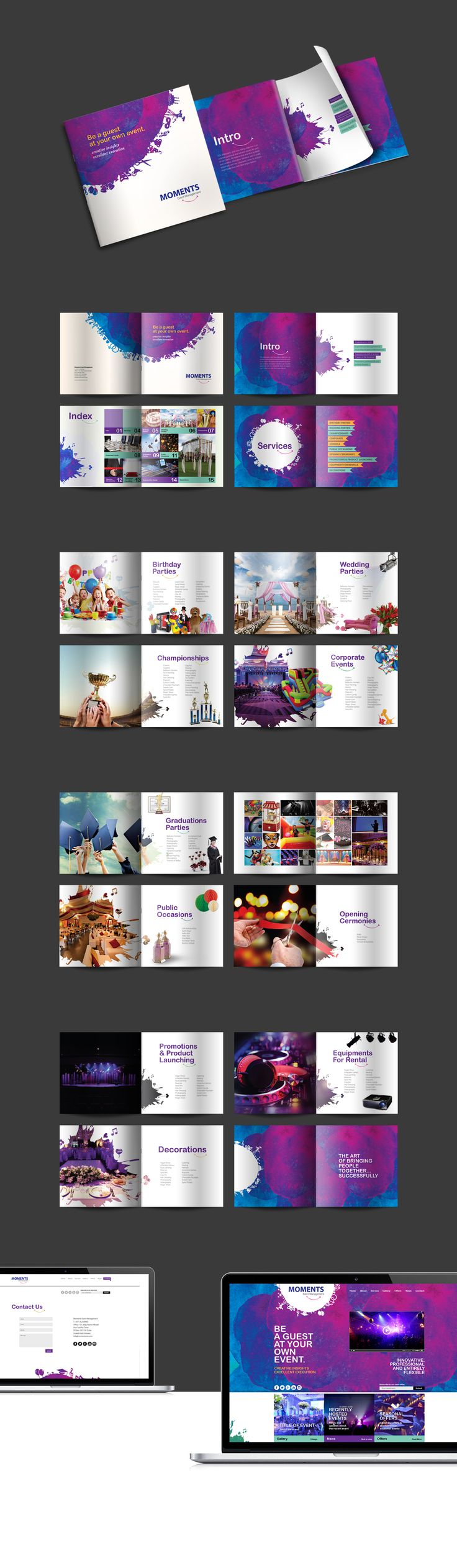 Brochure design created for an event management company based in Dubai.