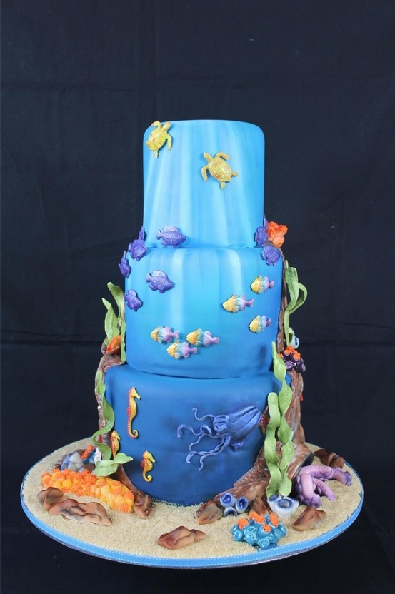 Great Barrier Reef Cake, Dinkydoodle Designs by Dawn Butler