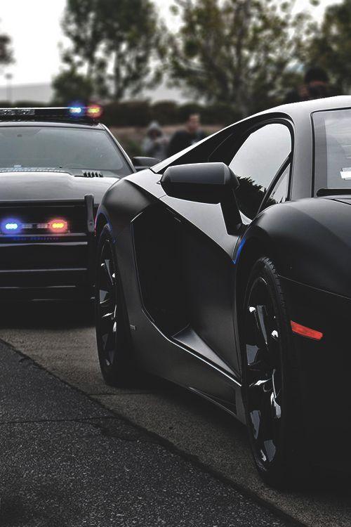 =( Matte Black Aventador x Mustang Police Interceptor