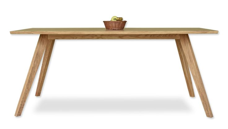 Design wood table, made from oak wood.