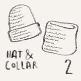 2/24 melange combo: hat+turtleneck scarf