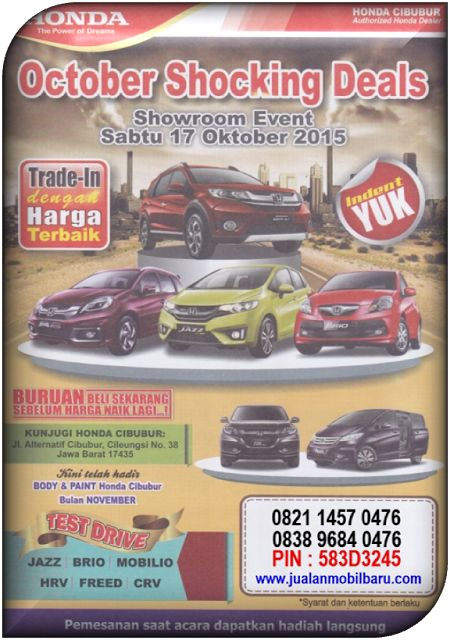 HONDA SHOWROOM EVENT OKTOBER 2015