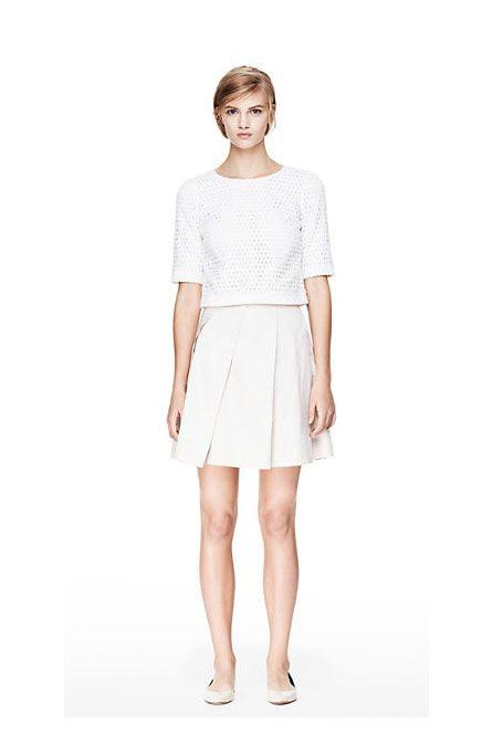 Theory Sarise Skirt in Taranto Cotton, $153 (originally $255), available at Theory.