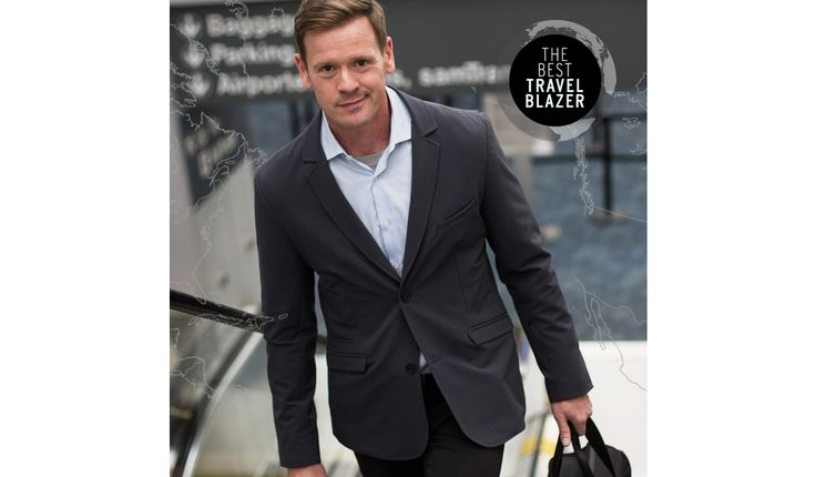 Our new travel blazer is wrinkle-resistant, highly breathable, and all-around comfy. Plus, it comes packed with a whopping eight pockets!