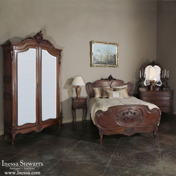 Antique Bedroom Furniture | Bedroom Sets | Antique French Louis XV Walnut  Bedroom Set | www - Top 25+ Best Walnut Bedroom Furniture Ideas On Pinterest Chalk