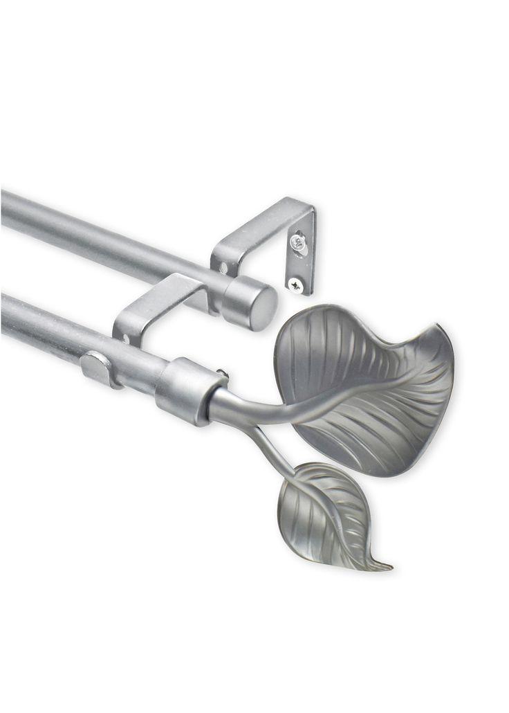"""Gardinenstange """"Blatt"""", 2-läufig silber - bpc living jetzt im Online Shop von bonprix.de ab ? 8,99 bestellen. Aus Metall, zum Teil mit Kunststoffendstücken ..."""