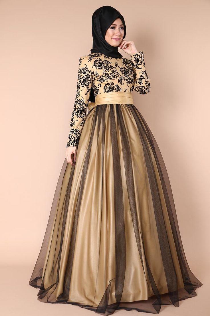 Eteği Tarlatanlı Abiye Elbise Siyah Ürün kodu: ASM1087 --> 199.90 TL