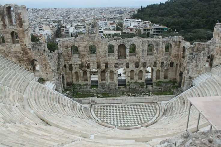 The theatre atthe Acropolis of Athens