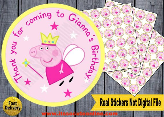 Peppa Pig Sticker/Peppa Pig Birthday/Peppa Pig