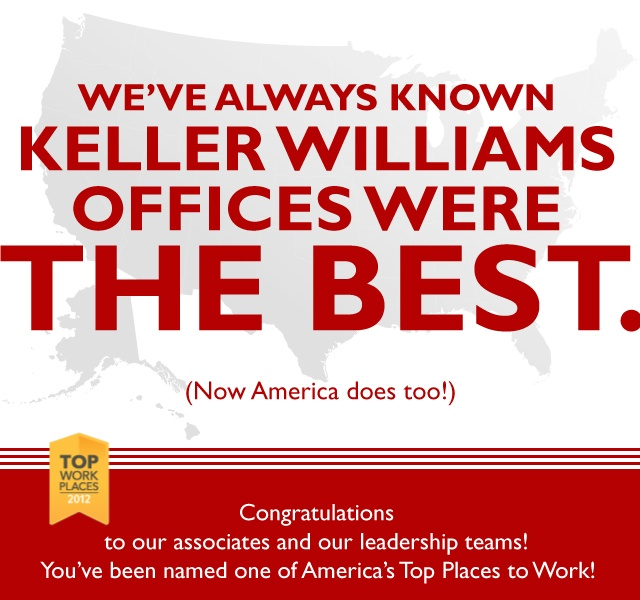 Keller Williams named in America's Top 10 Places to Work