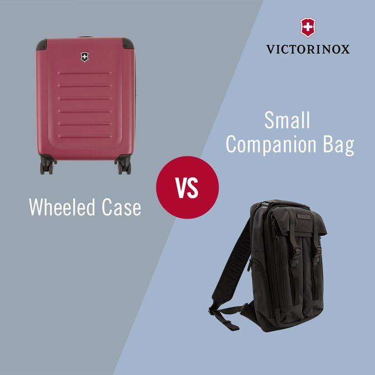 Wheeled Case vs. Small Companion Bag: Which do you prefer for a short trip? ‪#‎WhatTypeAreYou‬ ‪#‎Victorinox‬ ‪#‎TravelGear‬