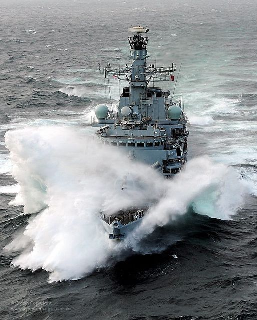 Royal Navy Type 23 Frigate HMS Iron Duke at Sea by Defence Images, via Flickr