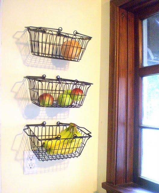 wall storage for fruit etc