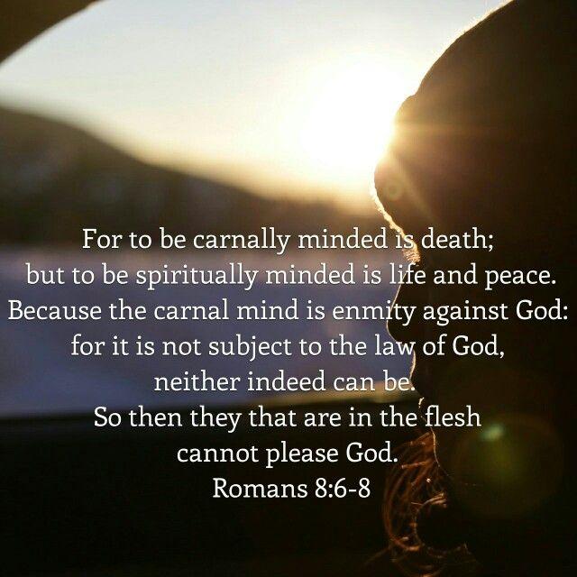 Romans 8 : 6-8  ( KJV )