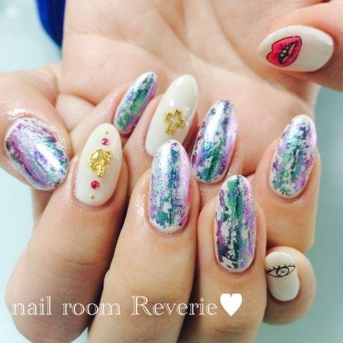 ホワイトベース×アートミラー♥︎成人式ネイルの画像 | nail room Reverie♥︎blog♡茨城県桜川市(旧真壁町…