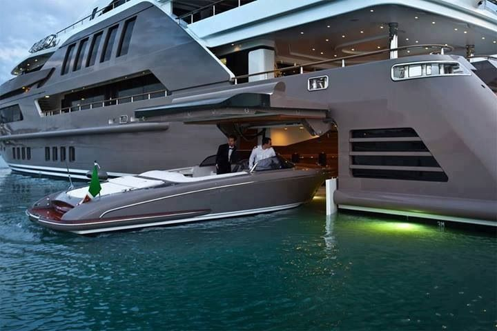 SUPERB YACHTS - With a boat inside a boat...