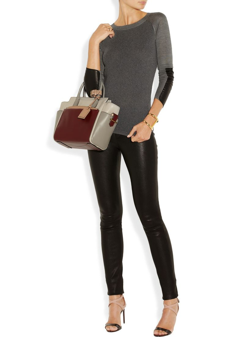 Reed Krakoff   Leather-trimmed merino wool and silk sweater   NET-A-PORTER.COM