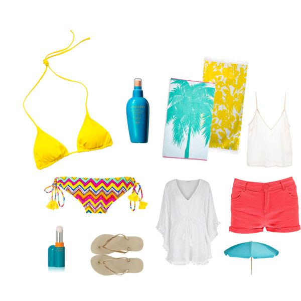 ready for the beach by lenahcaruana on Polyvore featuring Monsoon, Amen., Raisins, Volcom, Boohoo, Havaianas, Shiseido and Sunnylife