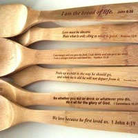 Scripture Spoons! #epic have this on a picture frame so she can place in her kitchen