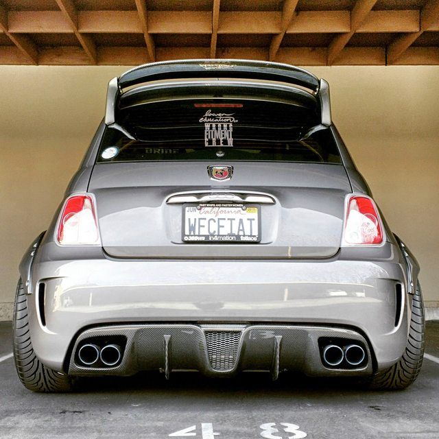 FS: Fifty Go Veleno carbon fiber rear diffuser for Abarth and 500T