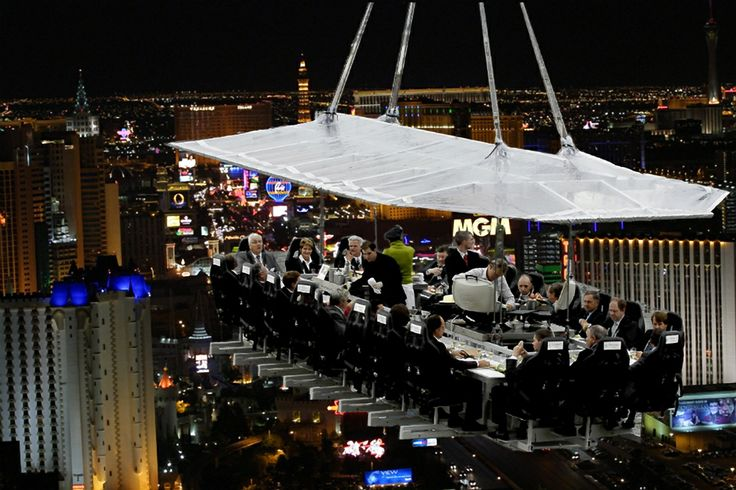 Dinner in the Sky in Las Vegas!