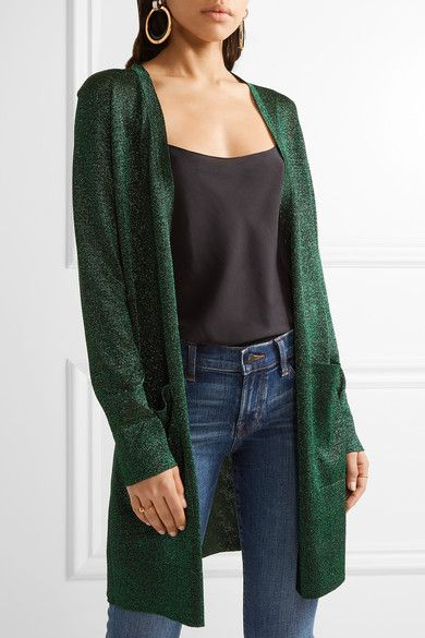 Missoni - Metallic Crochet-knit Cardigan - Green - IT