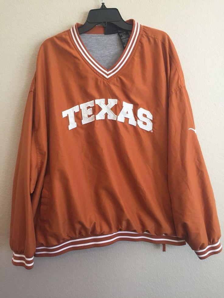 Texas Longhorns 3XL Wind Rain Jacket XXXL Orange Lined Pullover Team Athletics #TeamAthletics #TexasLonghorns